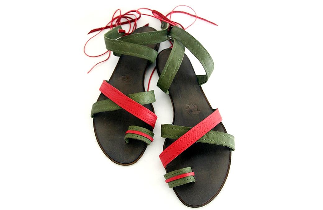 "sandale ""jeez"" verde& rosu"