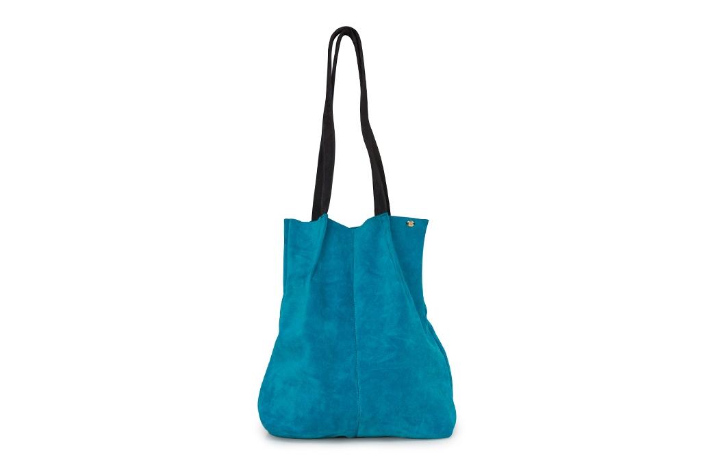 geanta mare turcoaz/bleumarin