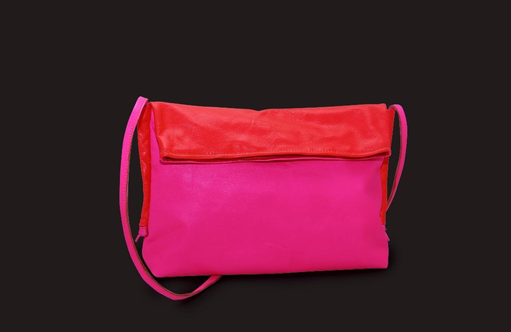 (RO) geanta bicolora neon