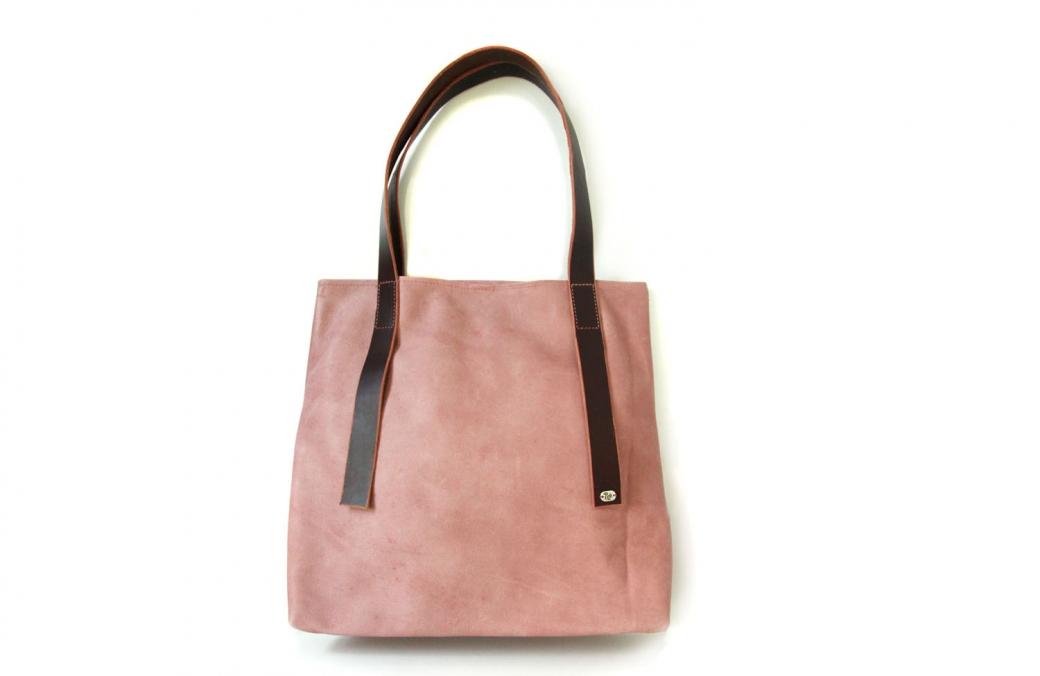 geanta trapez roz & maro