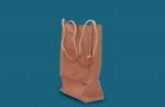 geanta din piele cu manere din sfoara