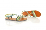 sandale mira albastru, verde & turquoise