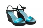 (RO) sandale deejay turcoaz metalizat/negru