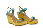 sandale deejay turquoise/galben