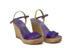 sandale deejay  violet/verde