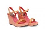 (RO) sandale deejay coral/orange metalizat