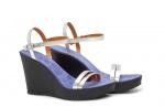 (RO) sandale  deejay argintiu/mov