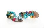 sandale romane multicolore