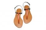 sandale bicolore