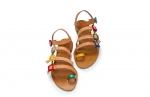sandale cu catarame colorate