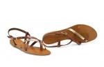 sandale paula auriu/ocru