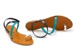 sandale sky turcoaz/bleumarin