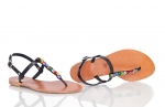 sandals with multi colored butterflies