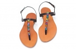 sandale cu fluturi multicolori