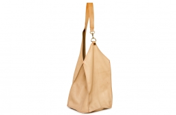 bisque bag with snap hook detail