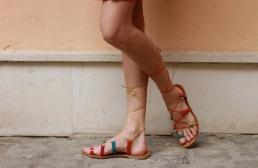 sandale gladiator multicolor