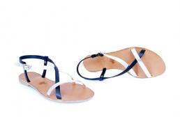 sandale mira bleumarin & argintiu
