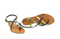 sandale paula bleumarin cu verde