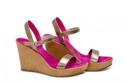 (RO) sandale deejay argintiu/fucsia