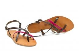 sandale paula kaki/fucsia