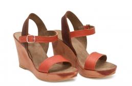 sandale  deejay maro/caramiziu