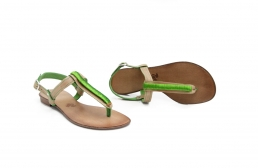 wire wrapped leather sandals
