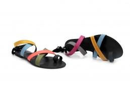 "sandale ""jeez"" albastru/galben/roz/gri"