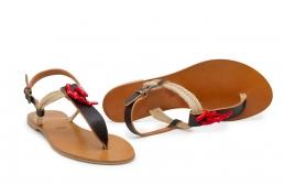 """sandale cu sfoara si """"coral"""""""