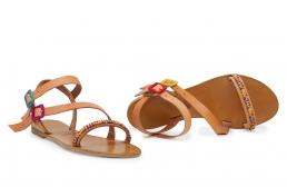 sandale gloria cu margele