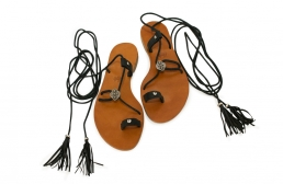 sandale romane negre