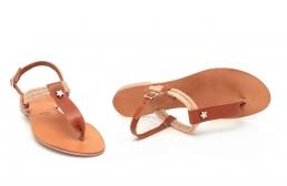 sandale cu sfoara si ornament metalic